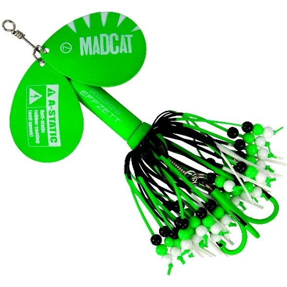 MadCat Fluo A-Static Rattlin Teaser Spinner 75g Green