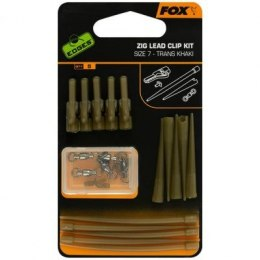 Fox Zig Lead Clip Kit 5szt Trans Khaki